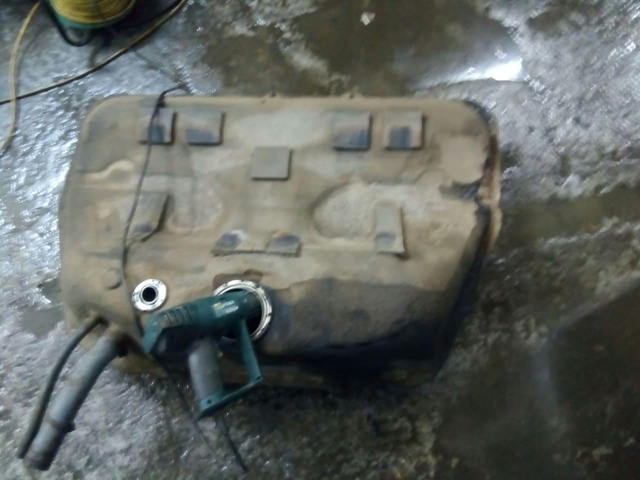 ремонт топливного бака аутлендер