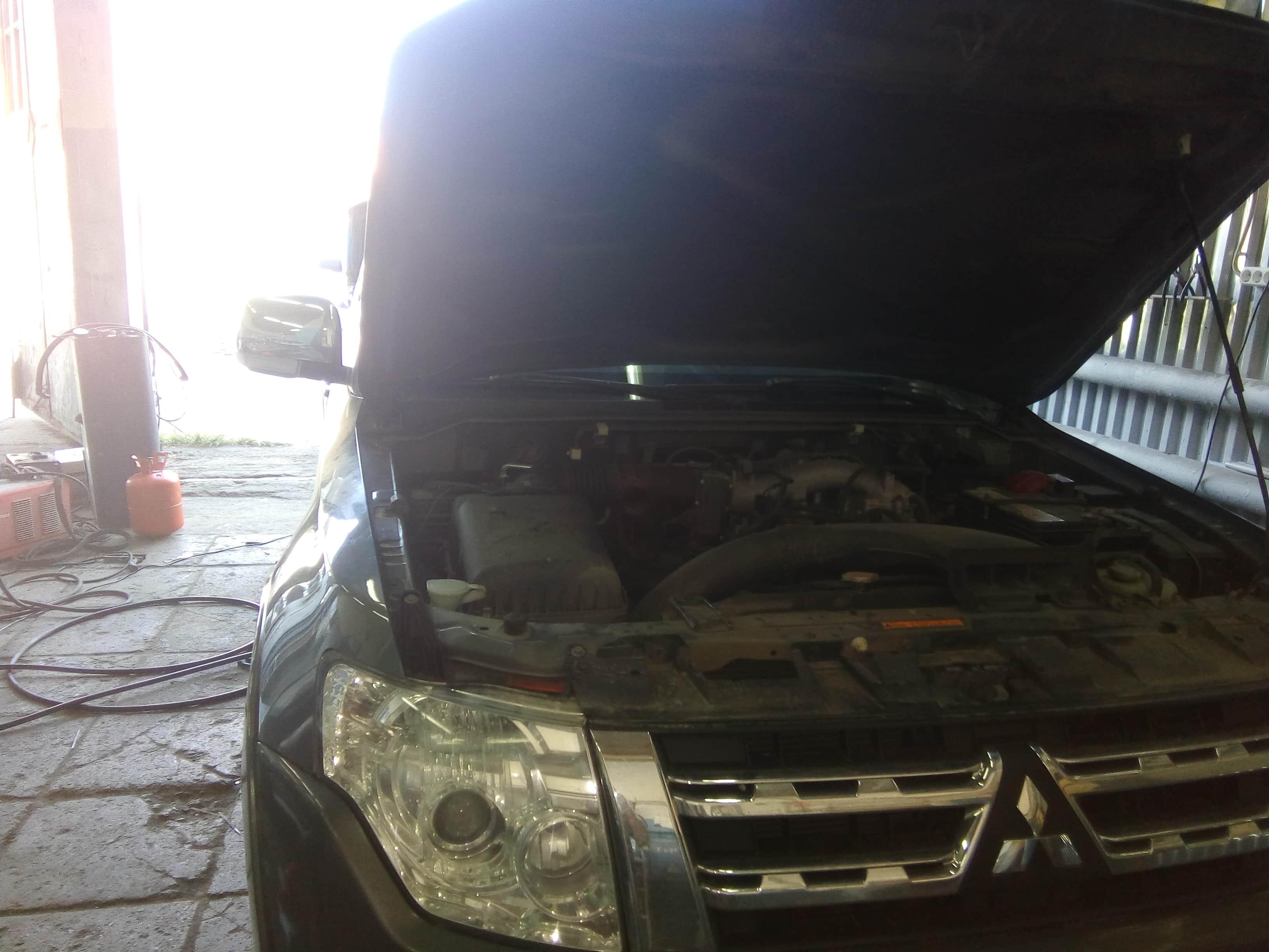 восстановление заднего кондиционера автомобиля